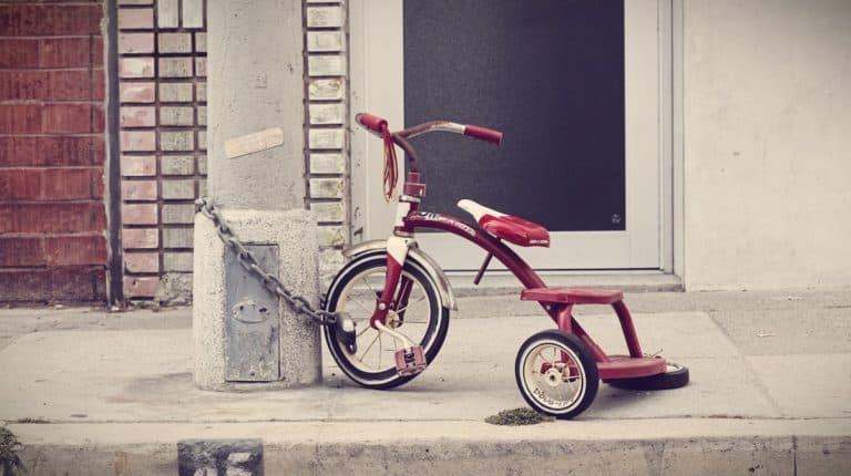 Bike Locked to Pole | eBikeBible.com