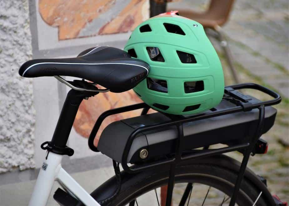 Electric Bike with Helmet   eBikeBible.com